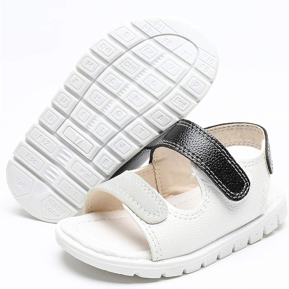 Lafegen Toddler Baby Boys Girls Sandals Rubber Sole Summer Outdoor Infant First Walker Crib Shoes