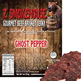 Ghost Pepper Beef Jerky - 100% Handcrafted USA Premium Beef Solid Steak Strips with Real Ghost Pepper - Old Fashion Recipe - Low in Fat 3oz