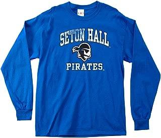 NCAA Seton Hall Pirates 100-Percent Pre-Shrunk Vintage Mascot Long Sleeve Tee