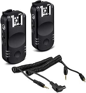 Powerextra 2.4G Wireless Flash Trigger & Remote Shutter Release for Canon EOS 1D, 7D, 5D,10D, 20D, 30D, 40D, 50D, 80D, 77D, 70D, 60D, Rebel T7i, T6i, T6, T5i, T5, T4i, T3i, T3, SL1, SL2 DSLR Cameras