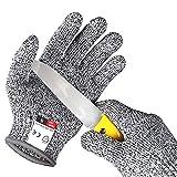Alintor Schnitzhandschuh Kinder, Schnittfeste Handschuhe Kinder mit Stufe 5 Schutz, Arbeitshandschuhe Kinder - Schnitzmesser Säge Schnitzen Bosch, EN 388 Zertifiziert, Geeignet für 3-5 Jährige