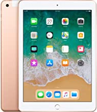 Apple iPad with WiFi, 128GB, Gold (2018 Model) (Renewed)