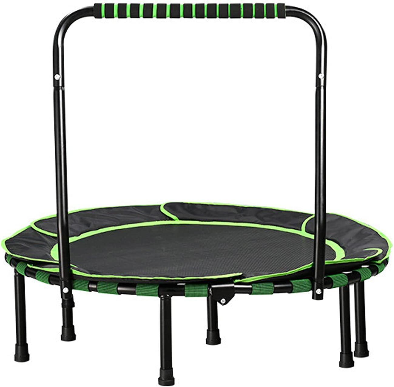 JTING Plegable 36 Pulgadas Trampolín con Reposabrazos Mini Niños Bounce Entretenimiento Elasticas Cama Trampolines, Carga 50 kg, Regalo de Cumpleaños, para Niños Mayores de 3 años
