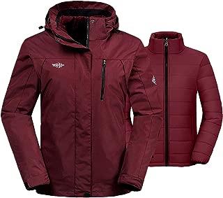Women's 3-in-1 Waterproof Ski Jacket Interchange...