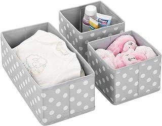 mDesign Juego de 3 cajas de almacenaje para habitaciones