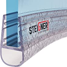STEIGNER douchestrip, 70cm, glasdikte 6/7/ 8 mm, voorgebogen, pvc, vervangende afdichting voor ronde douches, UK07