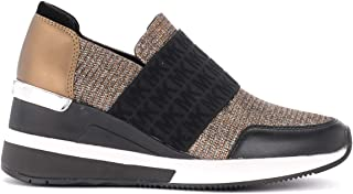 Michael Kors Woman's Slip On Felix in Bronze-Colored Mesh Fabric
