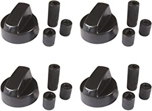 4-Pack Black Generic Design Universal Control Knob With 12 Adapters