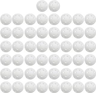 TRENDBOX 50-Pack Polypropylene Plastic Golf Training Balls Golf Practice Balls - White