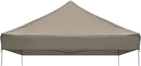 BenefitUSA G241-TAUPE Top for Ez pop Up 10'X10' Gazebo Cover Patio Pavilion plyester-Taupe Canopy Replacement