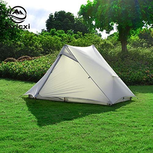 Mdsfe Aricxi light 2 Outdoor Ultralight Camping Tent 2 person Professional 15D Silnylon Rodless Tent-gray