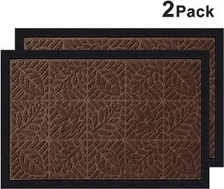 2 Pack Outside Shoe Mat Rubber Doormat for Front Door 18