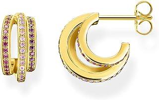 Thomas Sabo Dames 18 carats (750) bicolore Irrégulier N'est pas applicable Créoles - CR663-973-7