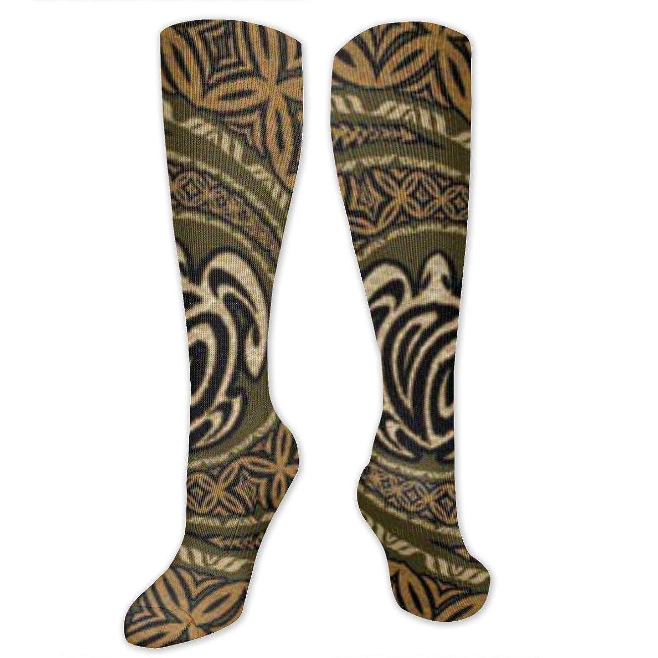 アンケート狭いクスコ靴下,ストッキング,野生のジョーカー,実際,秋の本質,冬必須,サマーウェア&RBXAA Tapa Honu Turtle Deluxe Socks Women's Winter Cotton Long Tube Socks Knee High Graduated Compression Socks