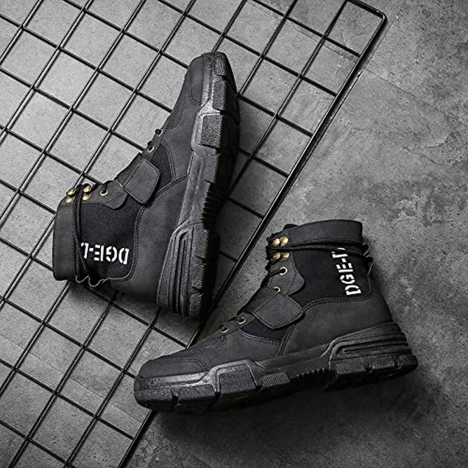 LOVDRAM Boots Men's Autumn And Winter In The Tube Martin Boots Platform shoes Men'S High-Top Casual shoes Men'S Boots