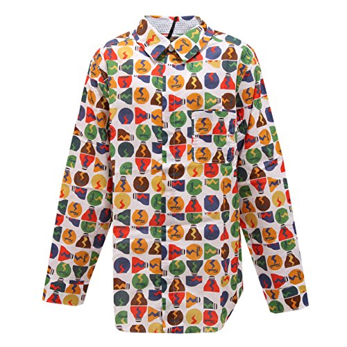 Fendi 0301S Camicia Bimbo LAMPADINE Manica Lunga Multicolor Shirt Kid [12+ Years]