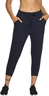LastFor1 Women's Capri Yoga Sweatpants Active Jogger Running Pants Drawstring with Pockets