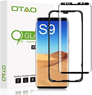 "Galaxy S9 Screen Protector Tempered Glass, [Update Version] OTAO 3D Curved Dot Matrix [Full Screen Coverage] Glass Screen Protector(5.8"") with Installation Tray [Case Friendly] for Samsung Galaxy S9"