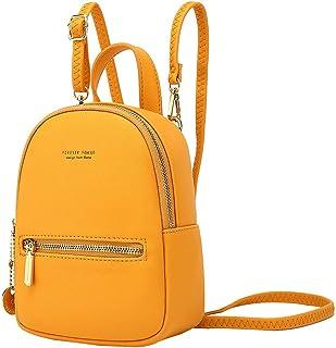 Mini Rucksack Damen,Aeeque Rucksäcke Damen Klein,Handtasche Kleiner Frauen,Mini Daypack für Mädchen,Mini Backpack PU-Lede...