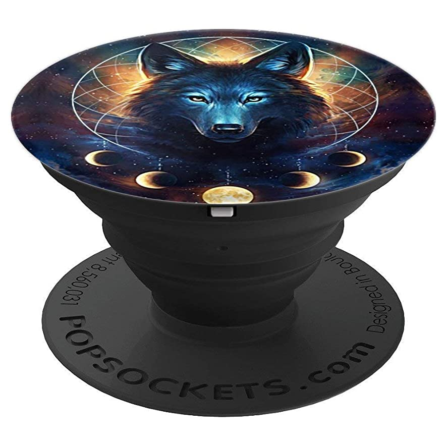 Popsockets Collapsible Phone Stands Wolf and the Moon - PopSockets Grip and Stand for Phones and Tablets