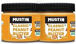 Mustin Classic Peanut Butter Creamy(340g), Classic Peanut Butter Chunky(340g)