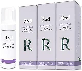 Rael Natural Feminine Cleansing Wash - 3Pack, Foaming Wash, pH-Balanced, Sensitive Skin, Light&Fresh Scent, Daily Cleansing Wash, Natural Ingredients (5oz, 3Pack)