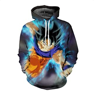 HOOSHIRTA Men 3D Hoodies Dragon Ball Z Pocket Hooded Sweatshirts Male Kids Goku egeta Printed Hoodies