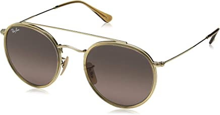 Ray Ban Unisex-Yetişkin Güneş Gözlükleri 0RB 3647N 91233M 51, GOLD\BLUEEGRADIENTGREY,