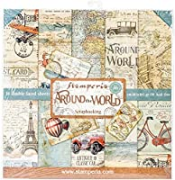"""Stamperia Double-Sided Paper Pad 12""""X12"""" 10/Pkg-Around The World, 10 Designs/1 Each"""