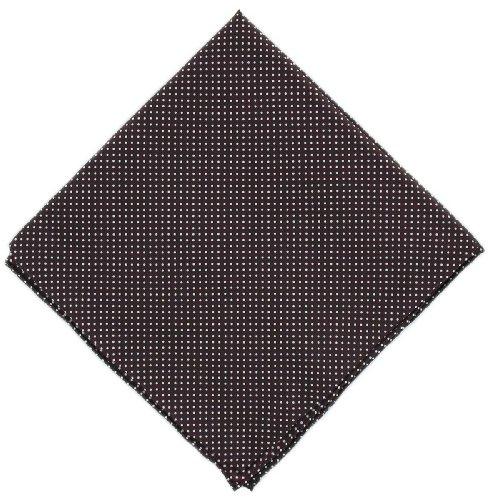 Michelsons of London Mouchoir Bourgogne Pin Dot soie de