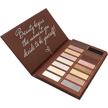 Paleta De Sombras De Ojos Profesionales - Paleta Maquillaje - Altamente Pigmentados 16 Colores Brillantes y Mate: Amazon.es: Belleza