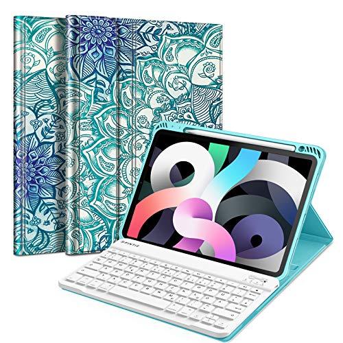 Fintie Tastatur Hülle für iPad Air 10,9' 2020 (4. Generation) Soft TPU Rückseite...