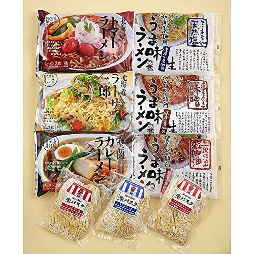 ( 産地直送 お取り寄せグルメ ) 北海道 うま味ラーメンと生パスタ 18食