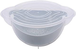 HLYT-0909 Boîte de Rangement Panier de Nettoyage en Plastique à Double Couche, Panier de vidange, Lavage des Fruits et lég...