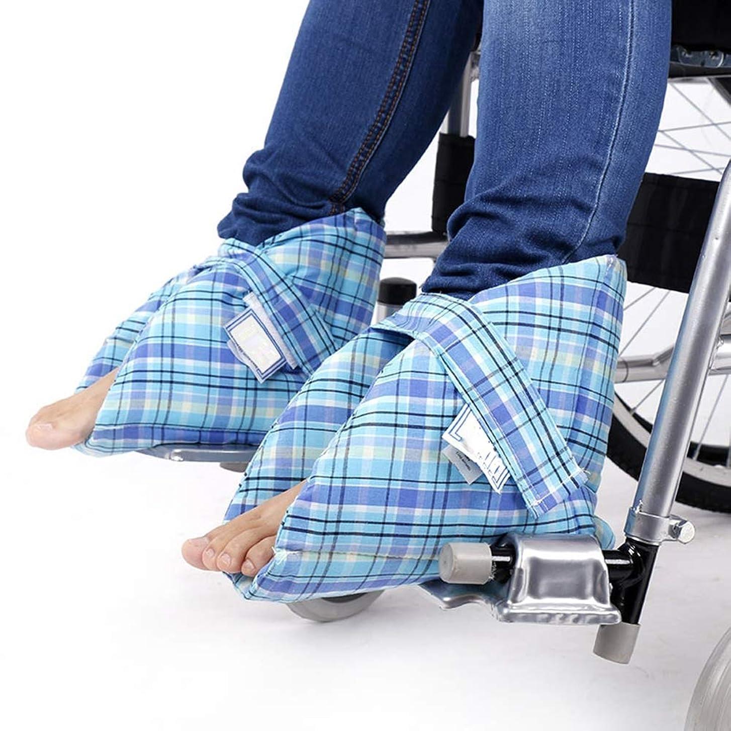 中古敬批判的フットサポートピロー、かかとプロテクター、ベッドの痛みや潰瘍の治療用、足の圧迫を和らげる、1ペア
