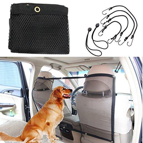 Focuspet Autonetz, schwarz, tragbar, Schutznetz, 112cm x 62cm für Hunde, Haken und Bänder sind enthalten