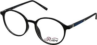 RETRO Unisex-adult Spectacle Frames Round 5205 S.Black/Blue