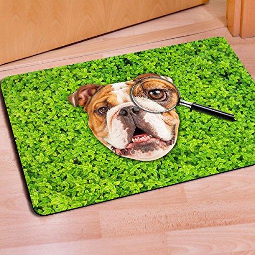 FTHIYK Cartoon Mat Vergrootglas Hond Patroon Keuken Voet Pad Slaapkamer Badkamer Anti-slip Water Deur Mat 40 * 60cm (15.7 * 23.6in)