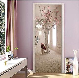 Autocollant de porte chambre murale rouleau de mur salon chambre porte autocollant mural porte décoration papier peint aut...