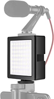 Neewer 3-Way Expandable 64 LED Light Panel USB-powered Dimmable On-camera Video Light with Built-in Li-ion Battery and 3 E...