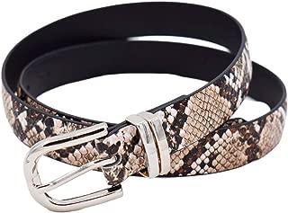 TeeYee Women Basic Waist Belt Chic Snake Pattern Pin Buckle Waist Bands