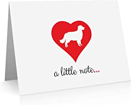 Golden Retriever Note Cards (24 Fold-over Cards and Envelopes) Dog Breed Notecards