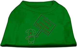 Mirage Pet Products 18-Inch Santa Stop Here Print Shirt for Pets, XX-Large, Emerald Green