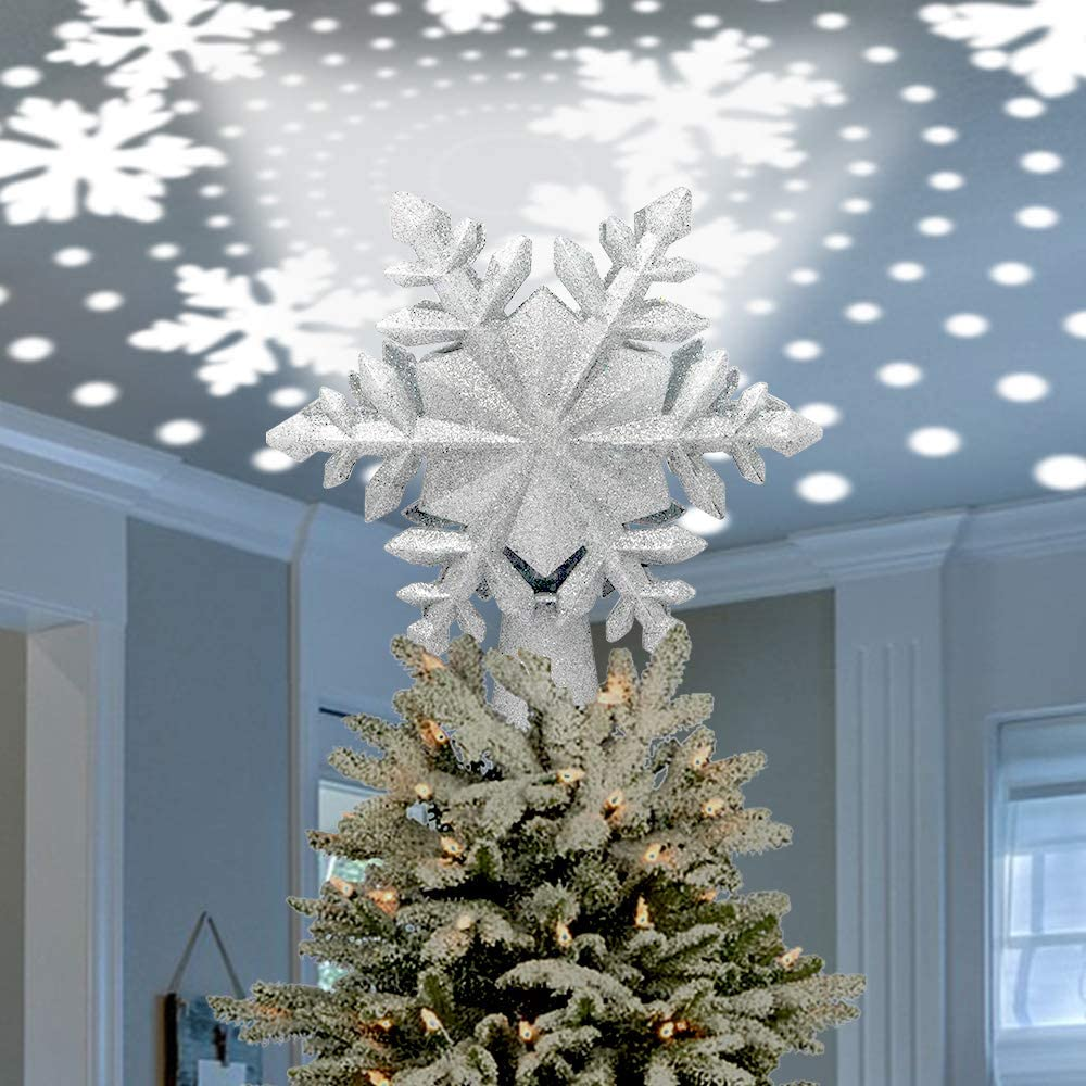Celebrate Max 51% OFF A Holiday Christmas Lighted Limited time sale Tree Topper Snowflake