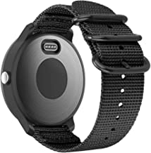 Fintie for Garmin Vivoactive 3, Forerunner 245 Band, 20mm Soft Woven Nylon Replacement Strap with Metal Buckle Compatible Vivoactive 3 Music, Vívomove HR, Forerunner 645 Music Smartwatch, Black