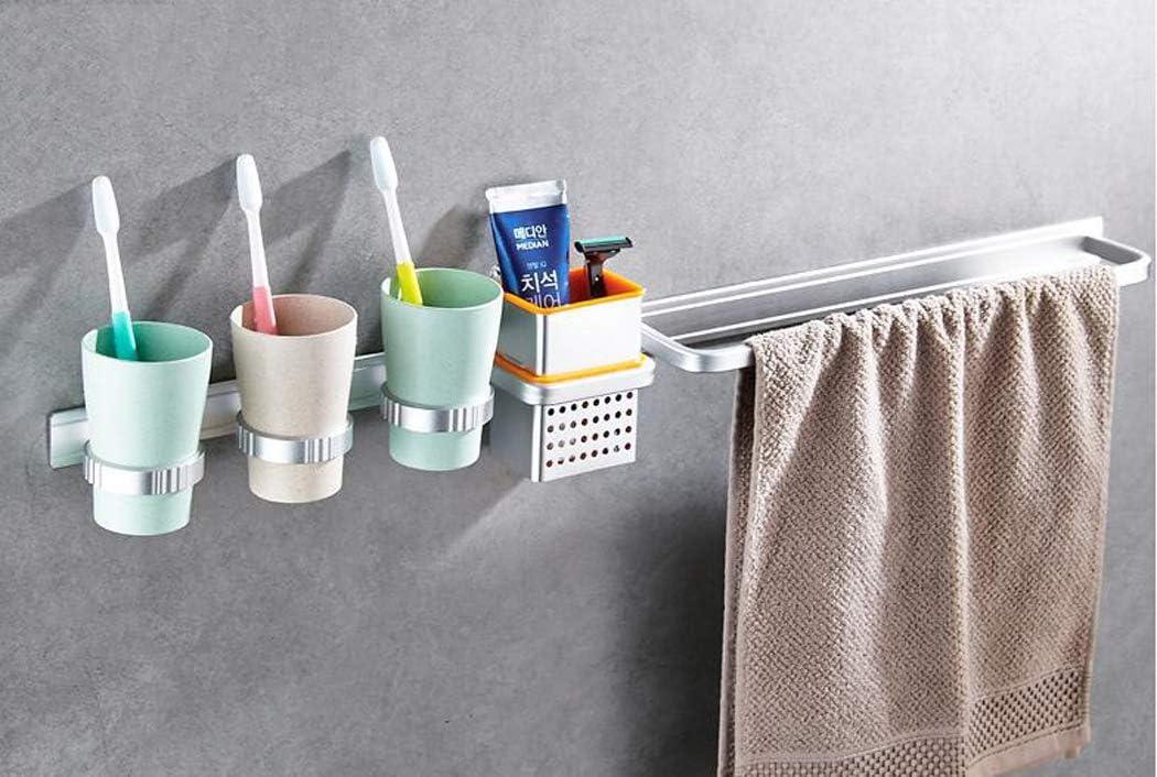 Sacramento Mall XMZFQ Bathroom Shelves with Towel Bar M Holder Brush Tooth 3 outlet and