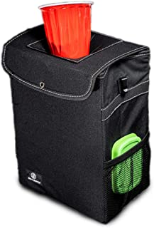 SKYY SUPPLY Car Trash Can with Lid and Storage Pockets - Leak-Proof (2.65 gal)