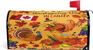 Oarencol Thanksgiving Day Canada Turkey Pumpkin Harvest Maple Rowan Leaf Mailbox Covers Magnetic Garden Yard Home Decor Oversize Size 25.5