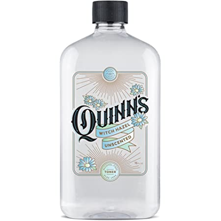 Quinn's Alcohol Free Witch Hazel 16 Ounce. Unscented Aloe Vera Natural Toner for Face and Skin (Unscented)