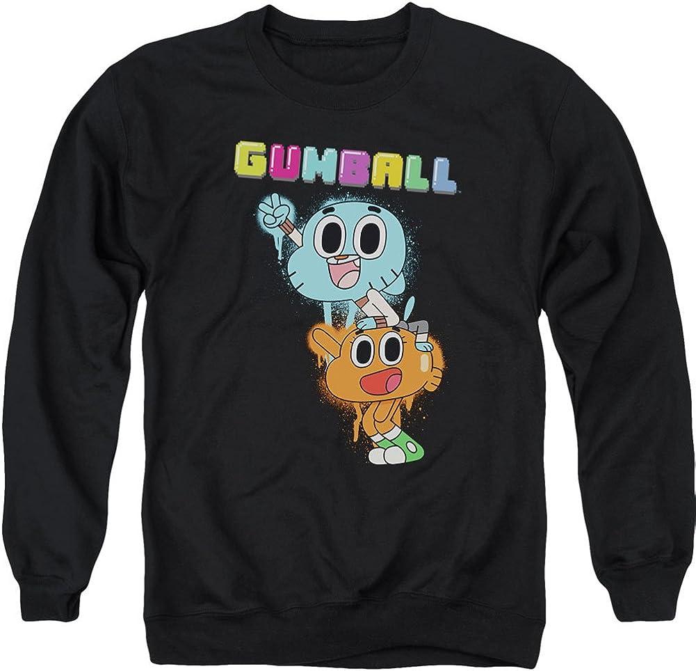 Amazing World Of Gumball Men's Gumball Spray Sweatshirt Black
